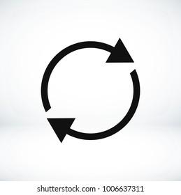 arrow icon,  stock vector illustration flat design