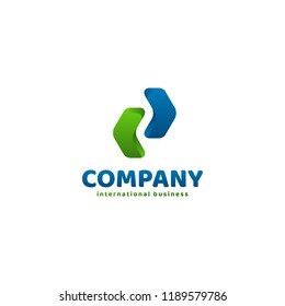 Arrow icon symbol concept related to finance or investment. Digital investment technology. Finance Industry logo