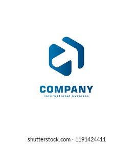 Arrow icon symbol concept related to finance or investment. Digital investment technology. Finance Industry logo.