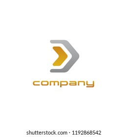 Arrow icon symbol concept related to finance or investment. Digital investment technology. Finance Industry logo. Wing tail symbol