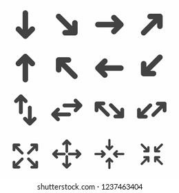 Arrow icon and symbol set vector on white background
