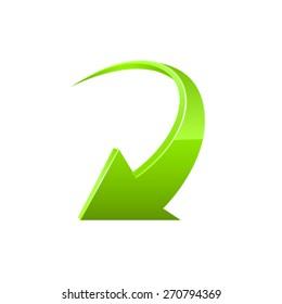 Arrow icon. Vector