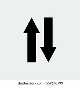 arrow icon, vector best flat icon, EPS
