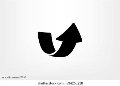 Arrow icon vector illustration eps10