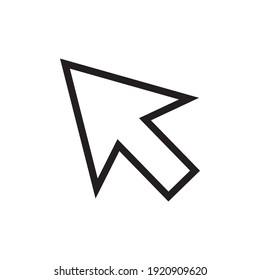 arrow icon vector illustration sign