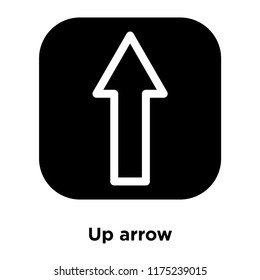 Up arrow icon vector isolated on white background, logo concept of Up arrow sign on transparent background, filled black symbol