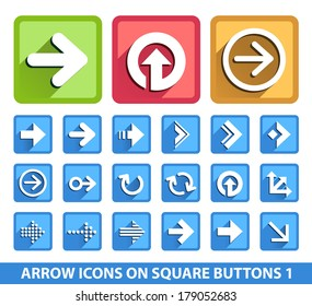 Arrow Icons on Square Buttons 1.