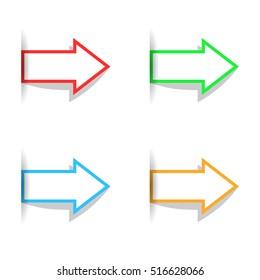 Arrow, icons. Vector illustration