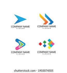 Arrow illustration logo vector template