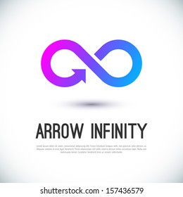 Arrow infinity business vector logo design template for your design.
