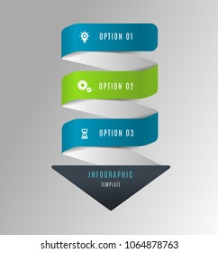 Arrow infographic concept template with options part stages and icons. Can be used for web, diagram, graph, presentation, chart, report, step by step infographics. Abstract background.
