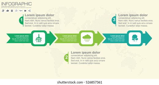 Arrow Infographic design template with place for your data 3 steps. Vector illustration.