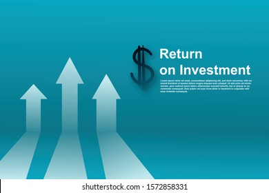 arrow infographic, roi return on investment.