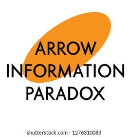 Arrow information paradox sign