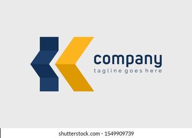 Arrow Letter K Construction Building Logo Design Vector Logo Template