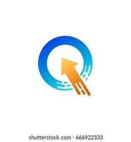 Arrow Letter Q Logo