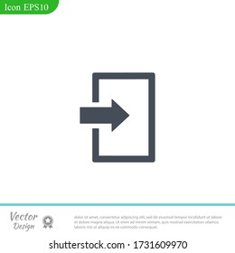 Arrow Login Enter icon, vector illustration for web mobile application.