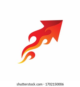 Arrow logo design, fire vector logo