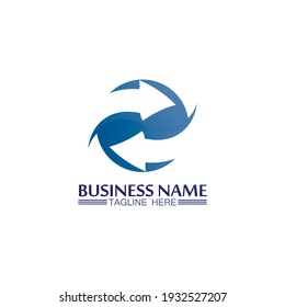 Arrow logo  design vector for music, media, play, digital audio and speed, finance, business template logo