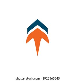Up arrow logo design logo design vector template