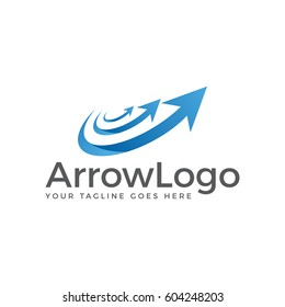 arrow logo icon vector template
