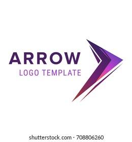 Arrow logo template. Abstract business logo icon design template with arrow