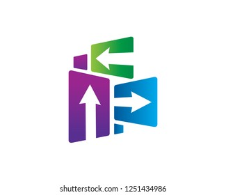 Arrow Logo Template Design Vector, Emblem, Concept Design, Creative Symbol, Icon