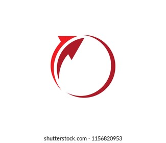 Arrow logo vector icon template