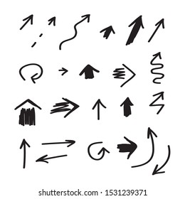 Arrow mark icons. Collection of stlylized arrow signs for your design