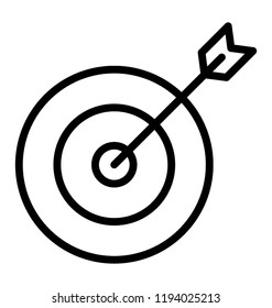 An arrow on a aim showing target