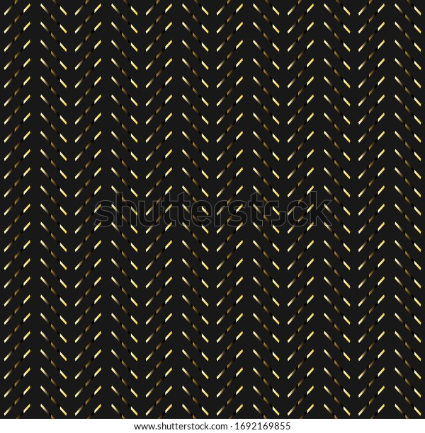 Arrow pattern with a combination of black background and golden strokes