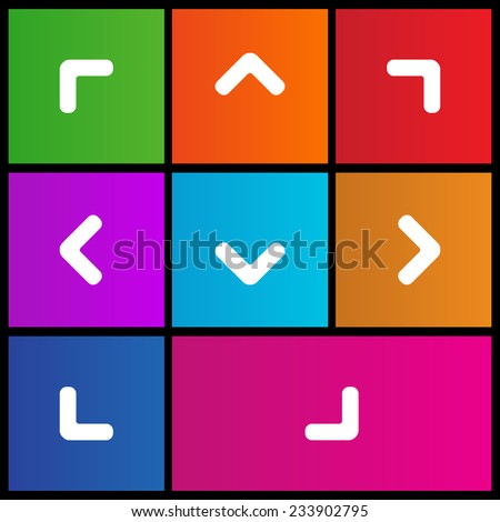 Arrow Point Pointing Right Left Up Stock Vector Royalty Free
