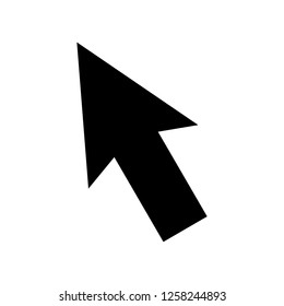 Arrow pointer icon. Mouse click pointer vector