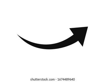 Arrow Pointer Icon. Vector Illustration.