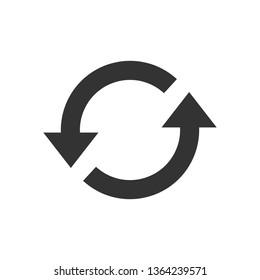 Arrow, refresh, update icon. Vector illustration, flat design.