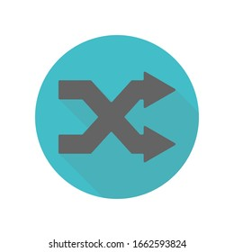 Arrow, remix long shadow icon. Simple glyph, flat vector of arrow icons for ui and ux, website or mobile application