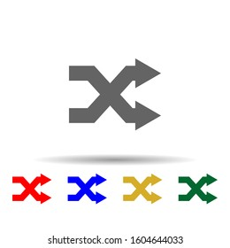 Arrow, remix multi color style icon. Simple glyph, flat vector of arrows icons for ui and ux, website or mobile application