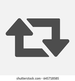 Arrow retweet icon