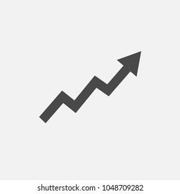 Arrow rising vector icon fluctuation arrow