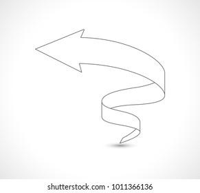 arrow scroll outline icon