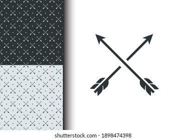 Arrow seamless pattern vector for background, texture, backdrop, banner, poster, wallpaper, sticker, brochure, textile, fabric. Bandana element. Isolated background. Eps 10