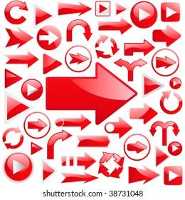 Arrow set vector for web design.