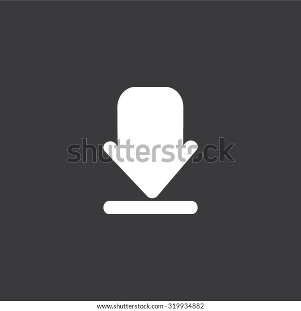 Arrow sign flat icon
