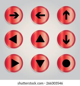 Arrow sign icon set Vector Illustration.