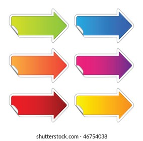 Arrow sticker