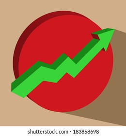 arrow stock up vector