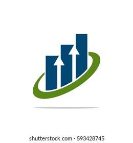 Up Arrow Swoosh Stock Exchange Logo Template