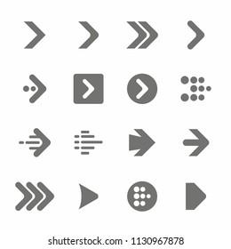 Arrow Symbol and Icon set. Vector