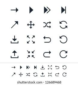 Arrow symbol icons