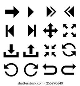 Arrow symbol icons.vector